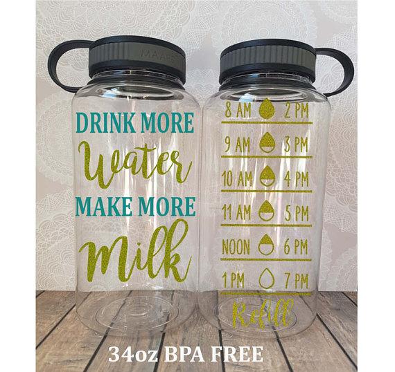 Breastfeeding basket and water bottles