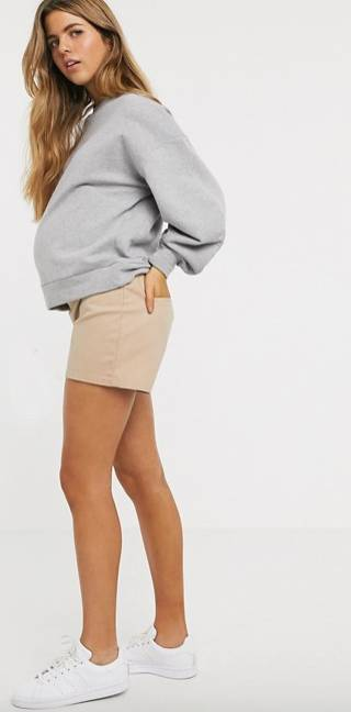 maternity shorts under the bump