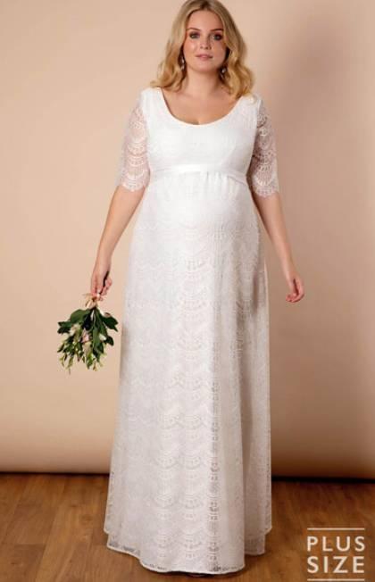 elegant plus size maternity wedding dress