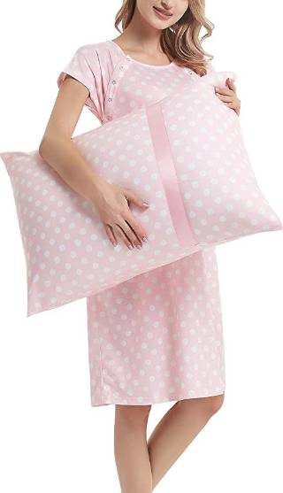 delivery nightgown with matching pillowcase