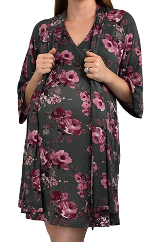 delivery nightgown and robe