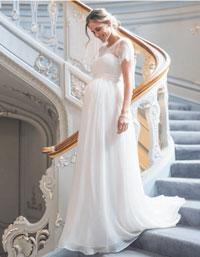 ivory lace plus size maternity wedding dress