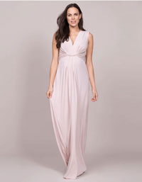 Blush Silk Eyelash Lace maternity wedding dress plus size