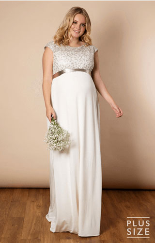 Plus size maternity wedding dress