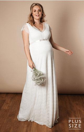 Maternity wedding dress plus size