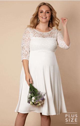 short plus size maternity wedding dress