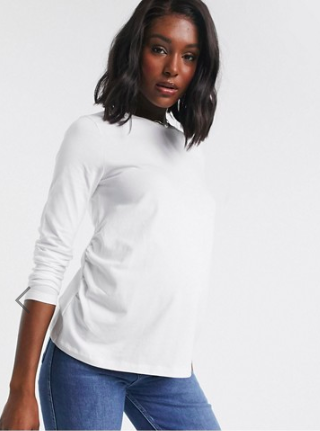 basic maternity t shirt with long sleeves