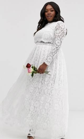 plus size maxi wedding dress