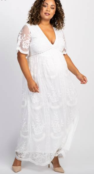 plus size maternity maxi wedding dress