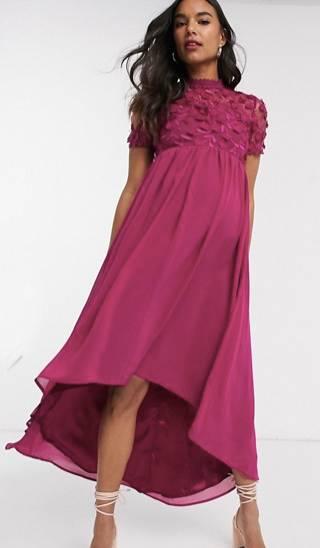 maternity high low dress