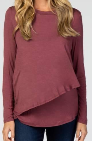 maternity and nursing long sleeve t-shirt