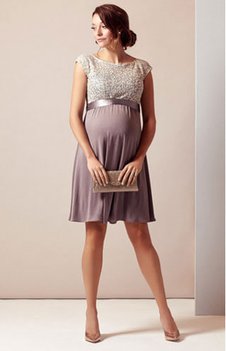 maternity wedding guest dress earthy colors
