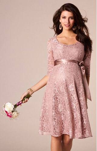 maternity wedding guest dress pink lace