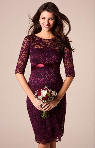 maternity wedding guest dress stretch lace