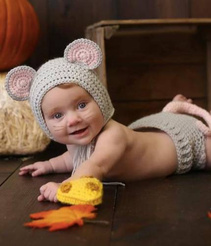 newborn boy mouse outfit