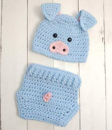 pig costume for baby photo