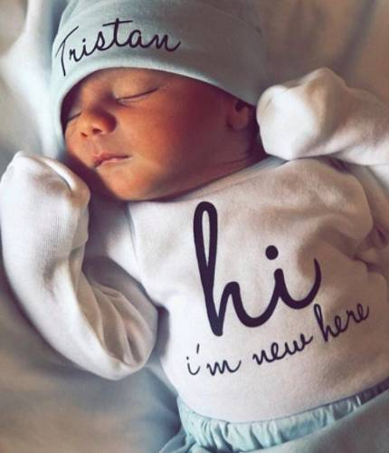 personalized baby boy outfit for photo shoot