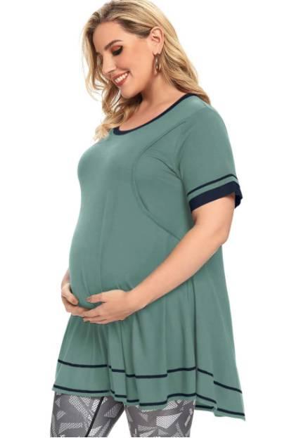 long plus size nursing shirt