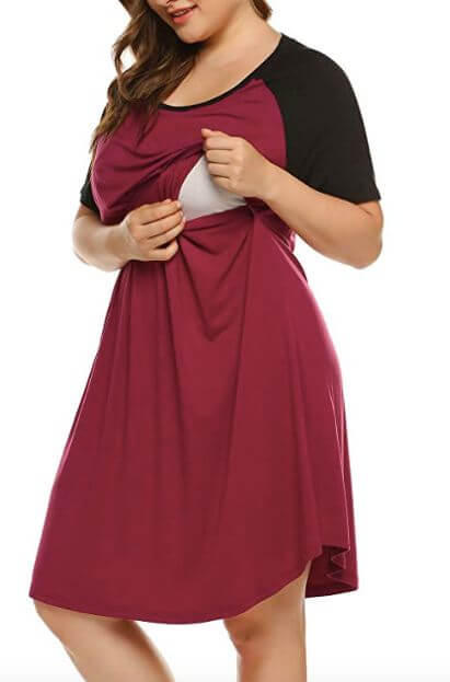 really big maternity nursing nightgown