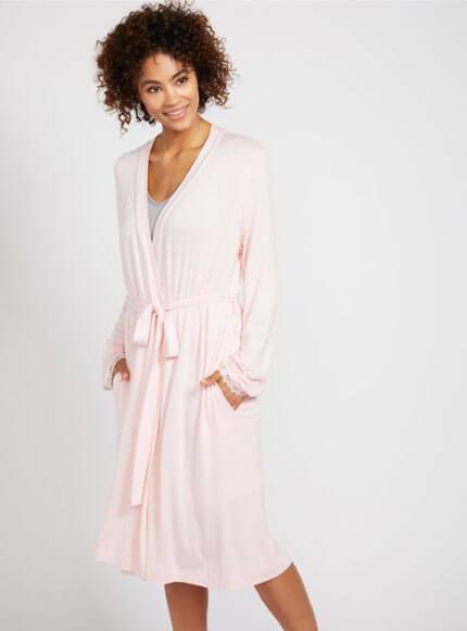 classic maternity robe