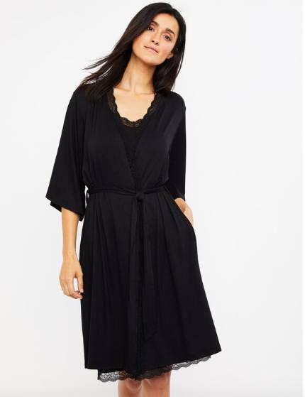 maternity robe with relaxed fit