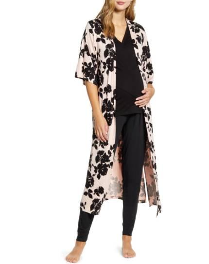 Maternity/Nursing Pajamas & Robe Set