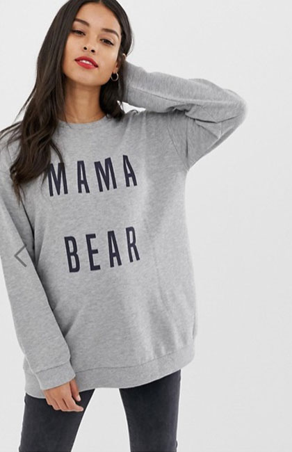 Maternity sweat shirt mama bear