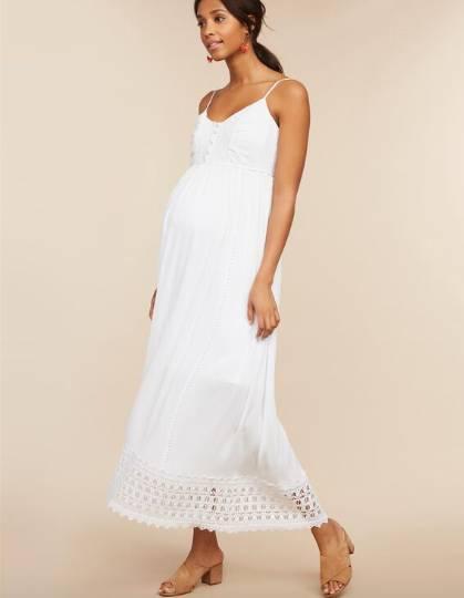 crochet detail maxi dress