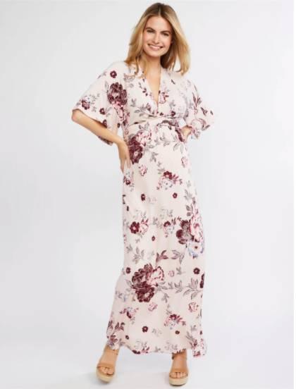summer maternity maxi dress