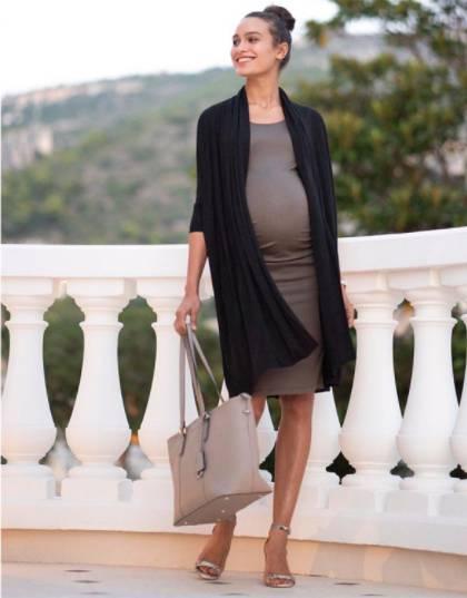 stylish bodycon maternity dress