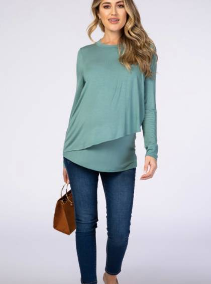nursing top with coverage