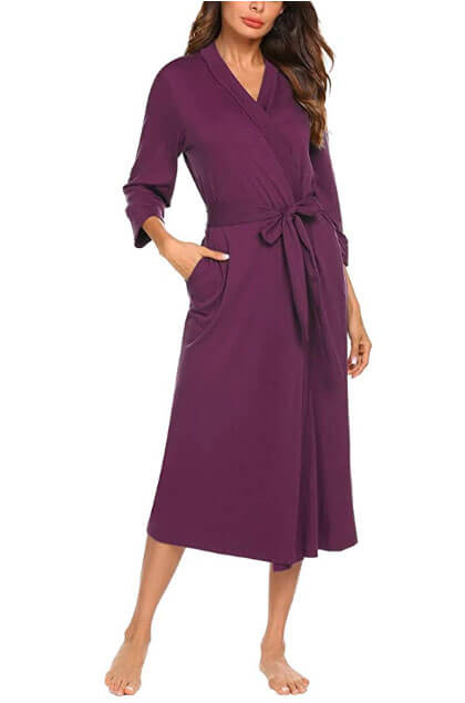 long plus size delivery robe