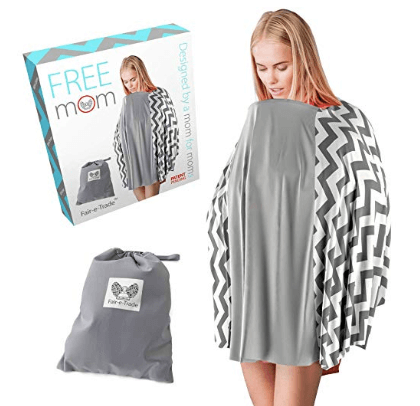 nursing poncho with rigid neckline