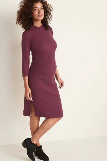 Maternity Rib-Knit Bodycon Dress