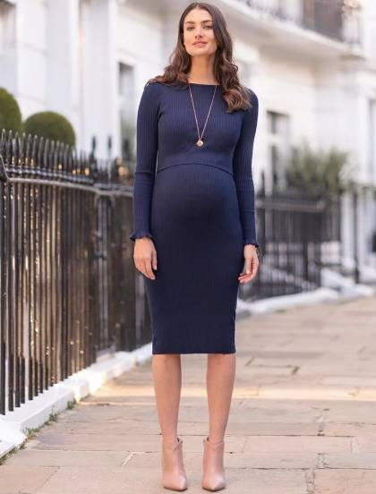 nursing midi dress