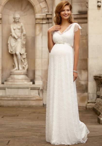 exclusive maternity wedding gown