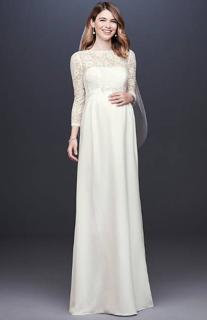 elegant maternity wedding gown