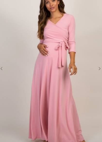 hide your baby bump in a nursing friendly dress