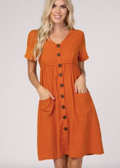 nursing button down dress