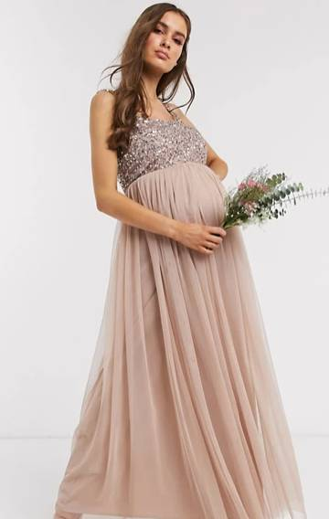 Maternity Dresses For Baby Shower Pink Blue White And Cute