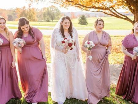 infinity dress for pregnant plus size bridesmaids