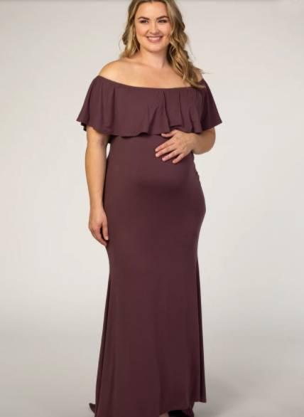 plus size maternity mermaid dress for wedding