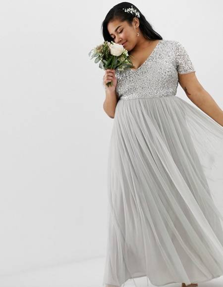 tulle bridesmaid dress in plus size